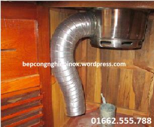 Ống nhôm nhún chịu nhiệt hút khí nóng khói bụi cho bếp nướng, quạt hút mùi...