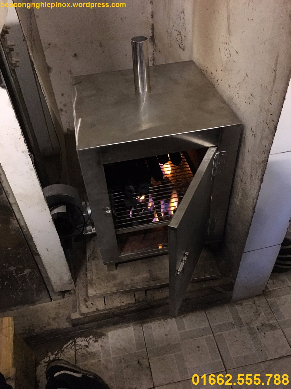Địa chỉ bán LÒ Ủ THAN HOA KHÔNG KHÓI bằng inox cho nhà hàng lẩu nướng KING BBQ