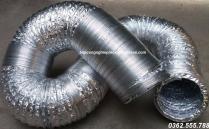 Ống mềm chịu nhiệt / ống bạc mềm hút khí nóng, khói bụi, có thể uốn cong gập khúc