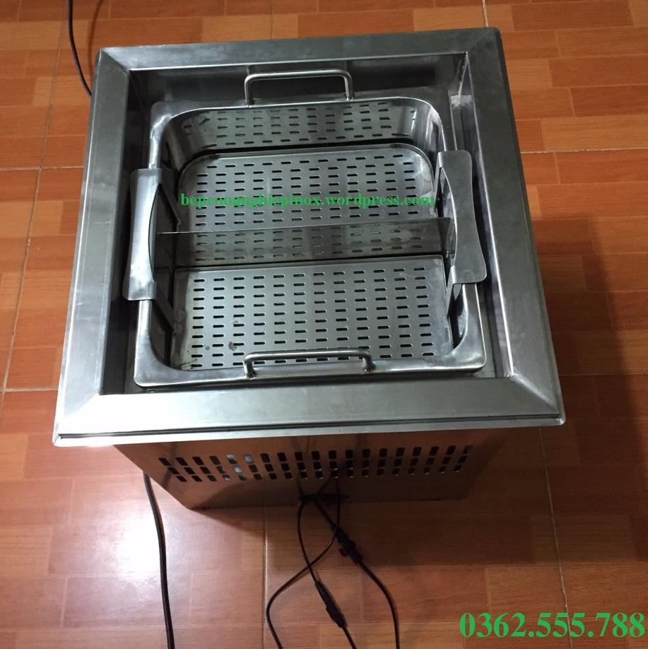 Giá bán Bếp lẩu tháng máy Trung Hoa - nồi lẩu tự nâng tại Hà Nội