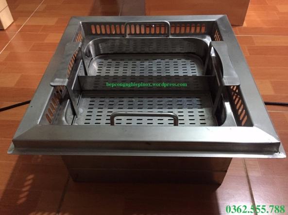 thông số kỹ thuật bếp lẩu tự nâng / cấu tạo nồi lẩu thang máy nhà hàng Trung Hoa