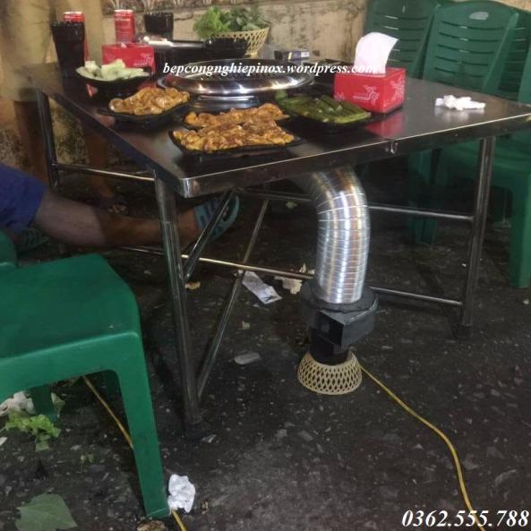 Ống nhôm hút khói bếp hút âm giá rẻ