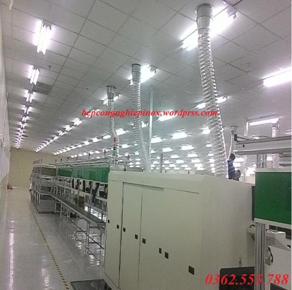 Ống dẫn thoát khí dây chuyền sản xuất