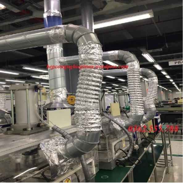 Ống bạc mềm hút thải nhiệt và khí cho máy công nghiệp giá rẻ