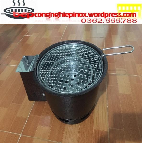 Bếp lẩu nướng than hoa không khói có quạt thổi than VN01